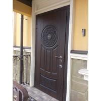 Установка входной двери Портала Люкс АМ-19 патина