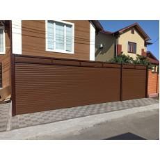 Роллетные гаражные ворота,  размер 5500 ш 2500 в, 77 профиль