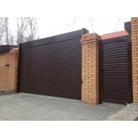 Роллетные гаражные ворота,  размер 4000 ш 2500 в, 77 профиль