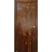 WoodOk Двери Бамбук ПГ орех