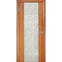 WoodOk Двери Глазго 1 ПО тик (декор Завиток)