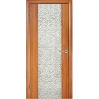 WoodOk Двери Глазго ПО тик (декор Черный завиток)