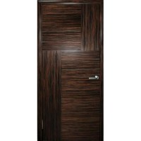 WoodOk Двери Маркетри 2 (инкрустация) ПГ эбен крупноструктурный